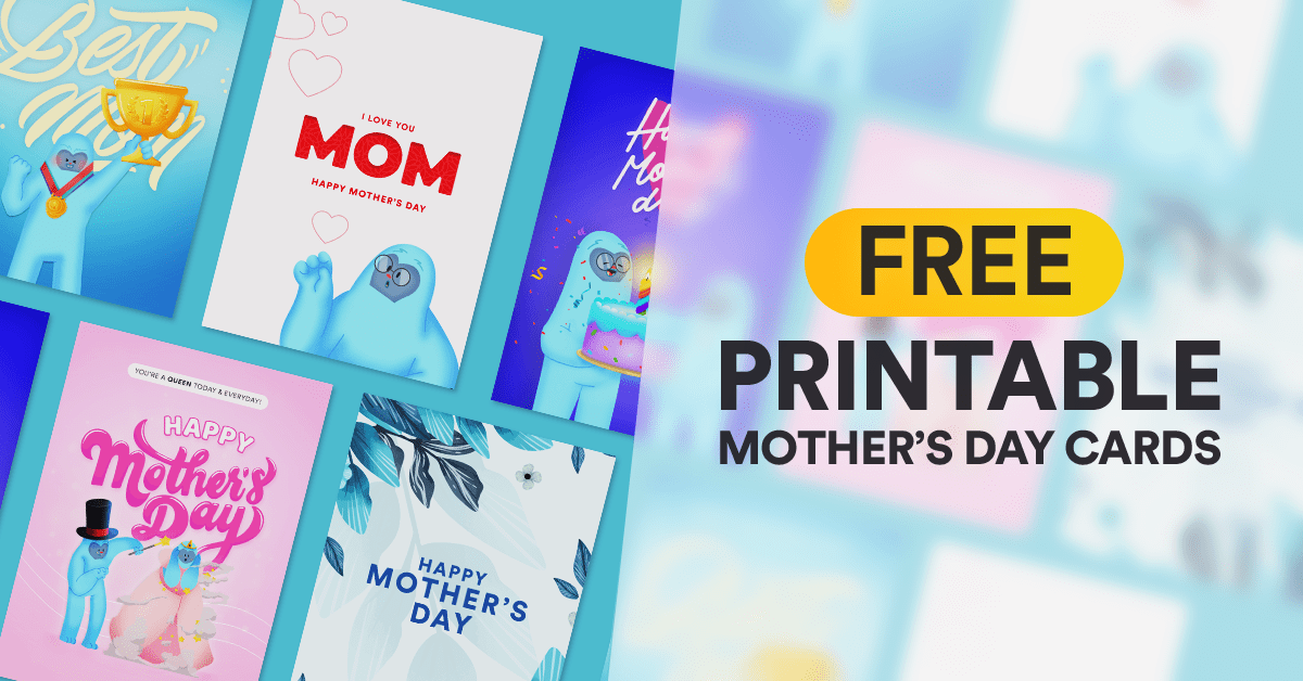 Free Printable Mother's Day Cards | DotYeti.com