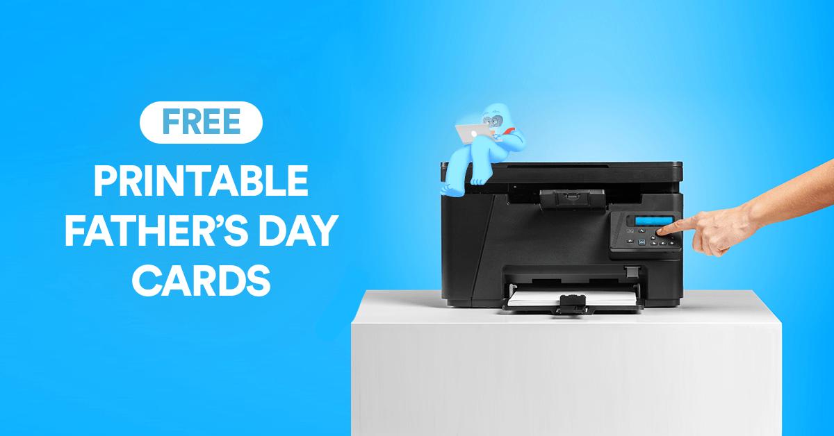 Free Printable Father's Day Cards | DotYeti